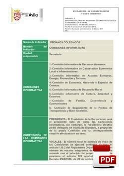 Órganos Colegiados -Comisiones Informativas