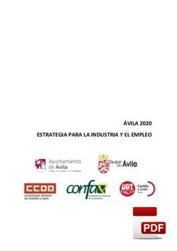 Ávila 2020. Estrategia para la Industria y el Empleo