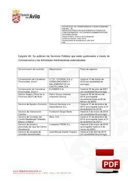 Servicios gestionados a través de concesionarios (2º Trimestre)