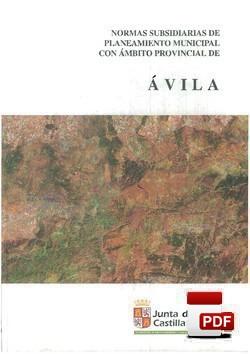 Normas Subsidiarias de Planeamiento Municipal con ámbito provincial de Ávila