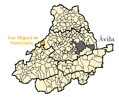 Mapa de la provincia de Ávila