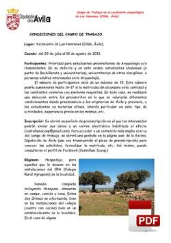 """Dossier - Campo arqueológico """"Las Henrenes"""""""