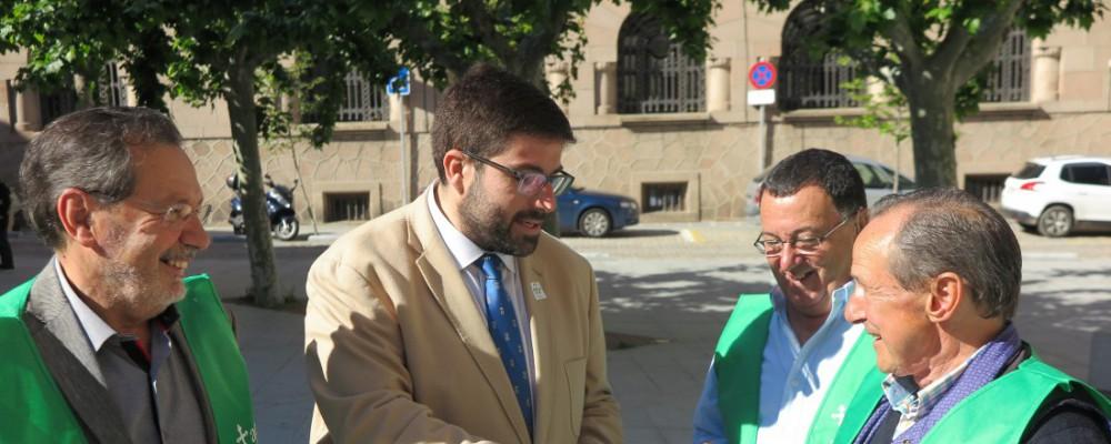 El presidente de la Diputación de Ávila aboga por el trabajo conjunto para apostar por la investigación en la lucha contra el cáncer