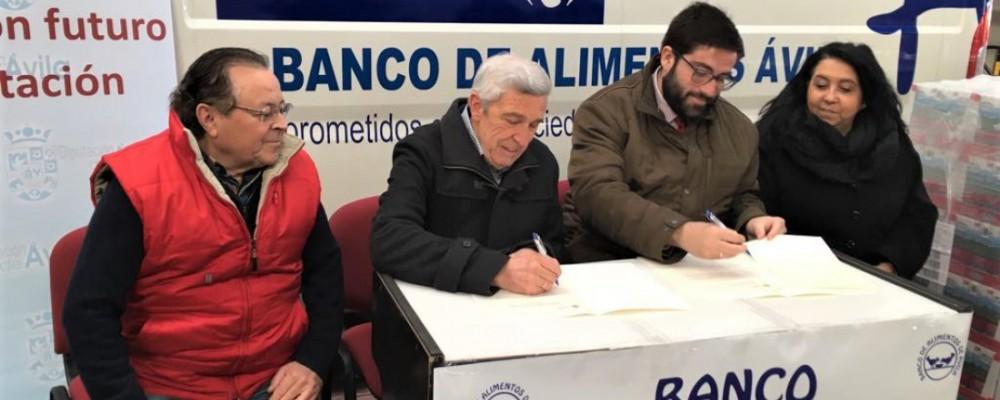 La Diputación de Ávila y el Banco de Alimentos colaborarán para atender las necesidades en la provincia