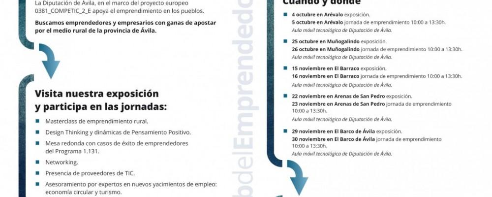 El Club del Emprendedor de la Diputación de Ávila acerca a Arenas de San Pedro un taller formativo con iniciativas para emprender en el medio rural
