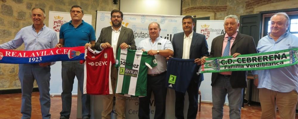 La Diputación de Ávila promocionará la provincia a través del fútbol con el Real Ávila y la Cebrereña