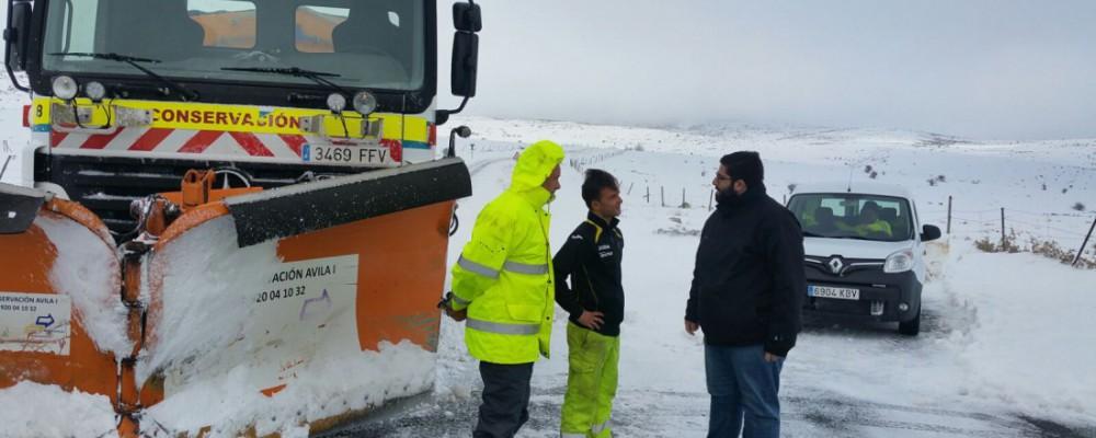 El presidente de la Diputación supervisa sobre el terreno los trabajos de limpieza en los municipios más afectados por el temporal