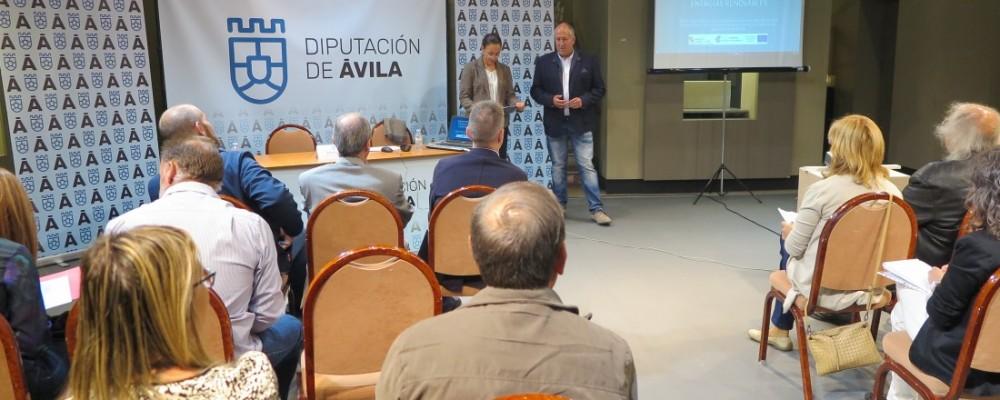 Diputación de Ávila y Junta de Castilla y León abordan en una jornada las ayudas para eficiencia energética destinadas a empresas y ayuntamientos