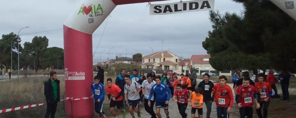 Los Juegos Escolares de la Diputación de Ávila reúnen en Arévalo a más de 160 niños en una jornada de campo a través