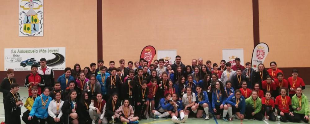 Ávila y Arévalo se llevan la final provincial de fútbol sala de los Juegos Escolares