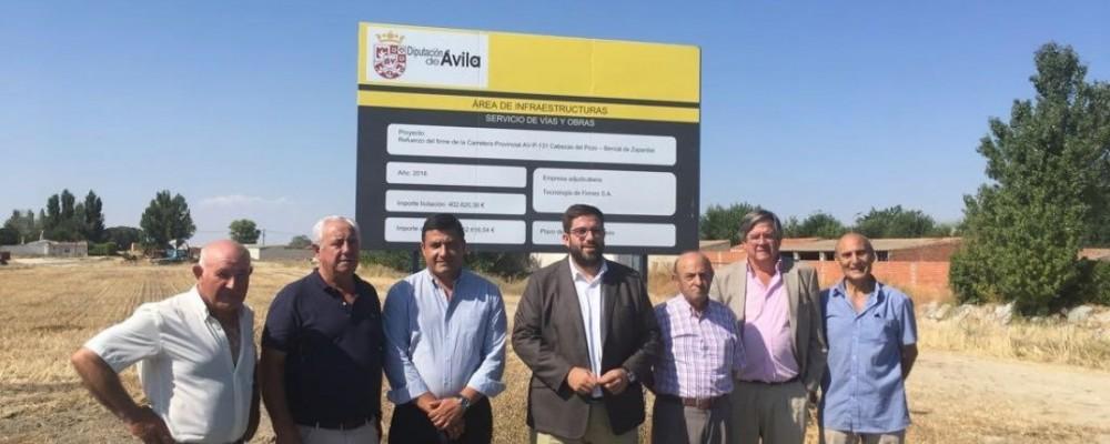 La Diputación mejora la carretera entre Bercial de Zapardiel y Bernuy de Zapardiel con una inversión de 300.000 euros