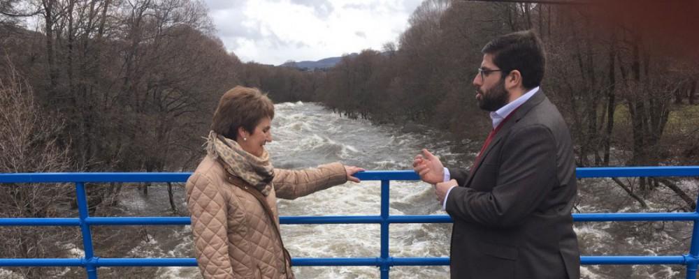 El presidente de la Diputación de Ávila visita los principales puntos de la provincia afectados por la crecida de los ríos