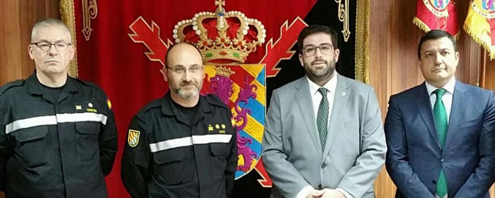 El presidente de la Diputación traslada a la UME en León su agradecimiento por la intervención en el incendio de Navalosa y Hoyocasero