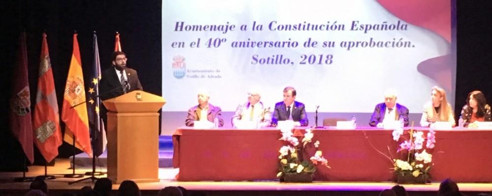 El presidente de la Diputación de Ávila pide respetar, valorar y divulgar la Constitución Española como marco de convivencia