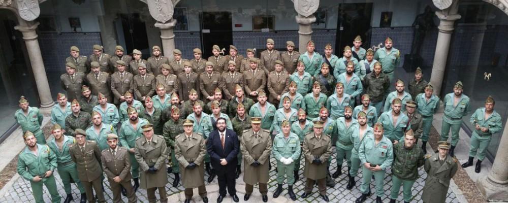 La Diputación de Ávila recibe la visita de la Unidad de Música de la Comandancia de Ceuta y de la Banda de Guerra de la Legión