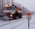 Foto de El dispositivo de vialidad invernal de la Diputación de Ávila interviene en una treintena de carreteras de la provincia por nieve