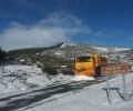 Foto de La Diputación de Ávila actúa en una decena de carreteras de la provincia afectadas por nieve o agua