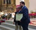 Foto de El presidente de la Diputación de Ávila, nombrado Hermano Honorífico de la Cofradía del Santísimo Cristo de los Afligidos