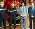 Foto de El presidente de la Diputación traslada a la UME en León su agradecimiento por la intervención en el incendio de Navalosa y Hoyocasero