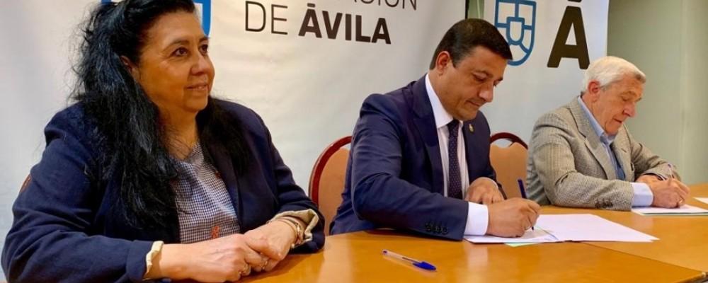 La Diputación Provincial firma un convenio de colaboración con el Banco de Alimentos de Ávila