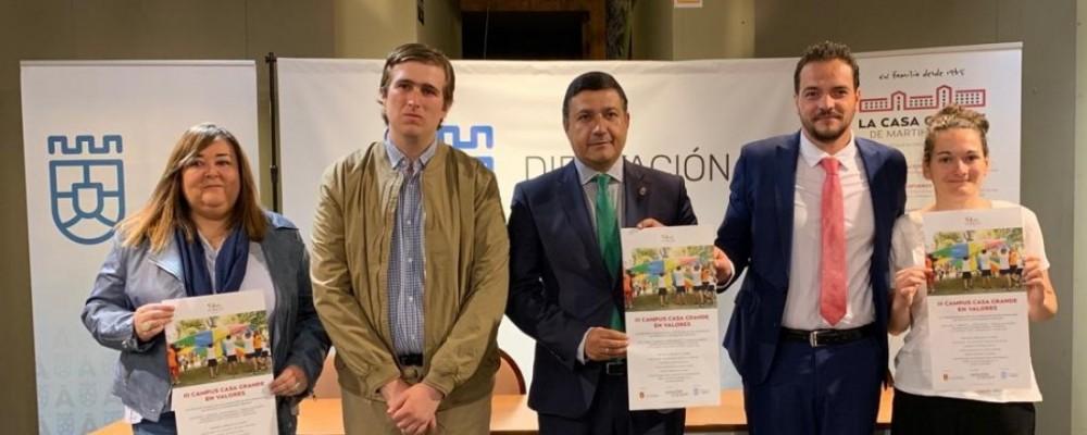 """La Diputación de Ávila y el Ayuntamiento de Martiherrero firman un convenio de colaboración para financiar el """"III Campus Casa Grande en Valores"""""""
