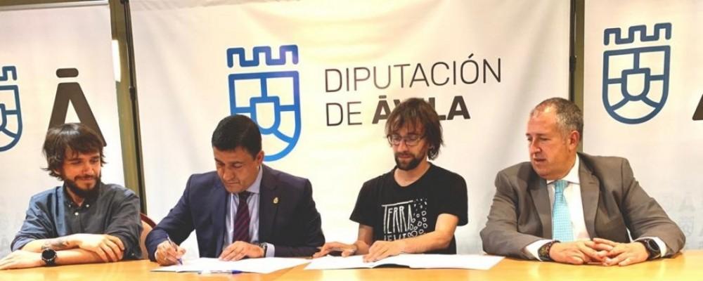 La Diputación de Ávila firma un convenio de colaboración con la Asociación Cultural Abulaga para la puesta en marcha del Museo Abierto de Ávila - Terra Levis