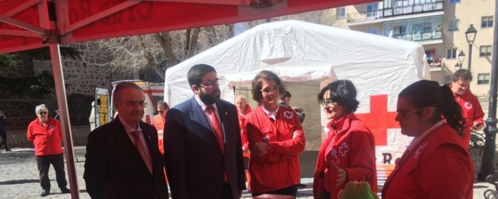 El presidente de la Diputación de Ávila subraya la pronta respuesta en emergencias que se alcanza en la provincia en colaboración con Cruz Roja