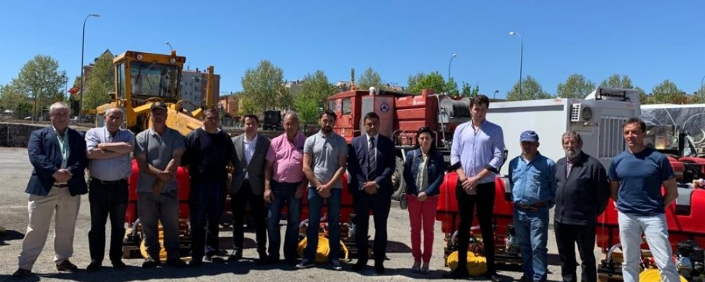 La Diputación entrega nuevos equipos de extinción de incendios a los ayuntamientos de la provincia