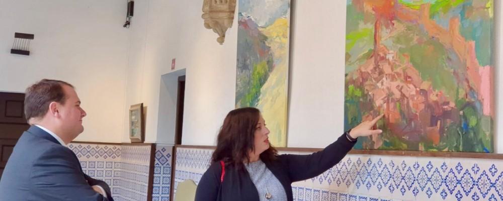 Irene Persa expone 35 óleos paisajísticos en la sede de la Diputación