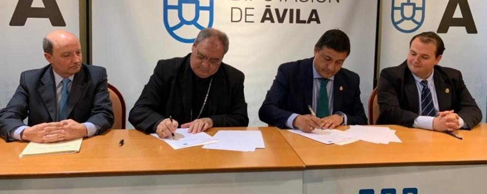 La Diputación firma un convenio con el Obispado de Ávila para la conservación de iglesias y ermitas de la provincia