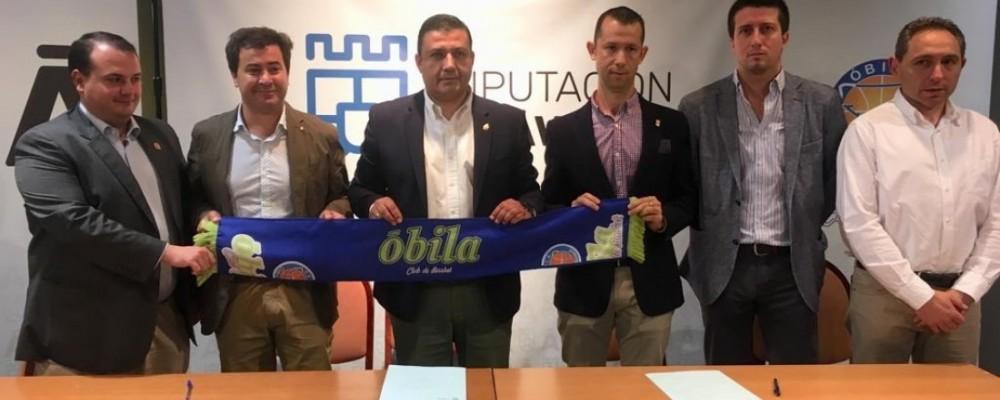 La Diputación y el Óbila CB renuevan el contrato de patrocinio