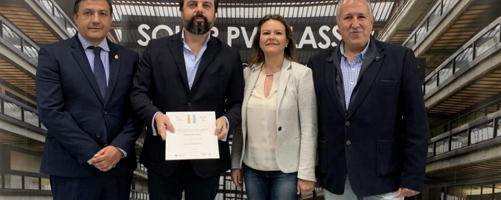 La Diputación de Ávila, en nombre de EnerAgen, entrega a Onyx Solar el Premio a la Mejor Actuación en Materia de Energías Renovables