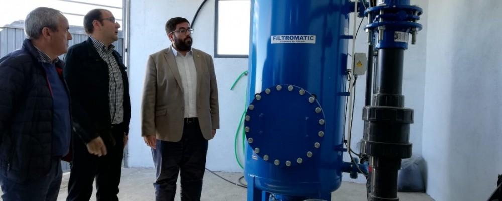 El presidente de la Diputación visita las obras de la potabilizadora de Diego del Carpio