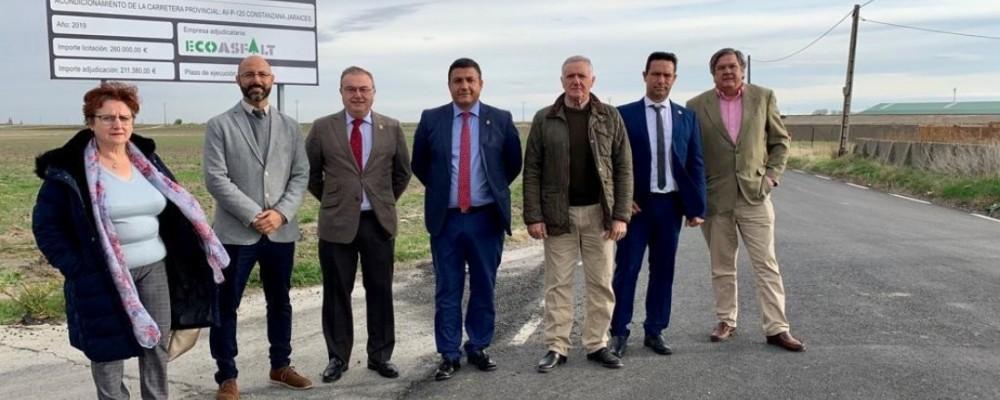 El presidente visita las obras de la carretera de acceso a Jaraíces y Fontiveros