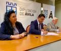 Foto de La Diputación Provincial firma un convenio de colaboración con el Banco de Alimentos de Ávila