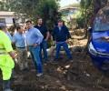 La Diputación pone todos sus medios para ayudar a los afectados por la tromba de agua de Las Navas del Marqués