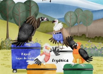 Alumnos de Primaria de la provincia aprenden a reciclar con el ejemplo de las aves carroñeras (2º Fotografía)