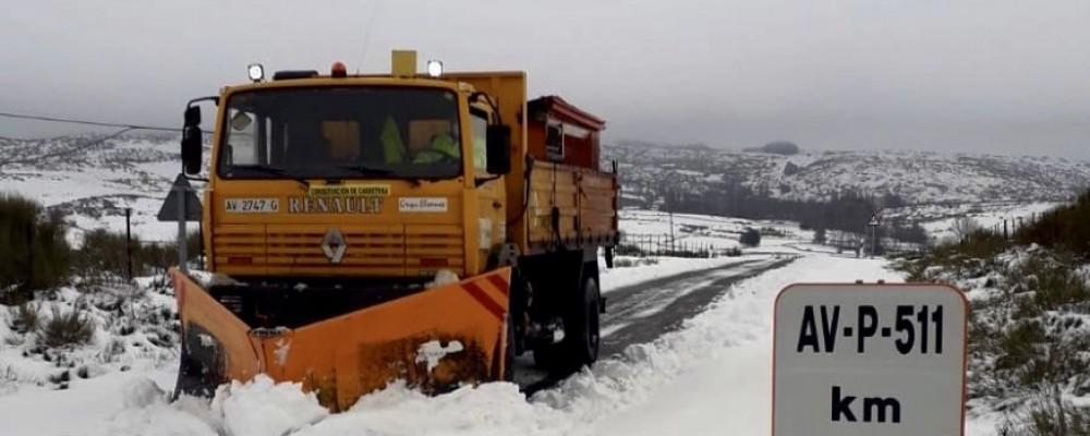El dispositivo de vialidad cierra el episodio de nieve actuando sobre 607 kilómetros de la red provincial