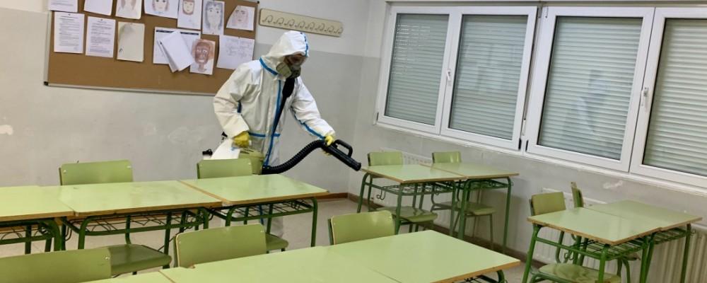 La Diputación comienza a higienizar todos los colegios e institutos de la provincia y la capital