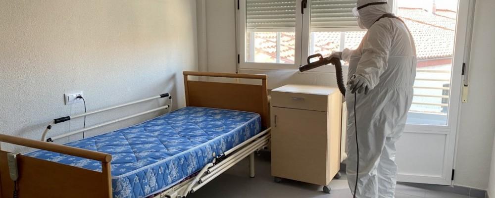 La Diputación desinfecta las instalaciones de la Casa de Misericordia de la capital abulense