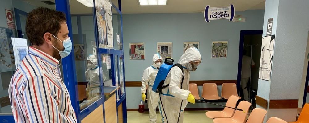 La Diputación inicia una ronda de desinfecciones en los centros de Salud de la capital tras concluir con los de la provincia