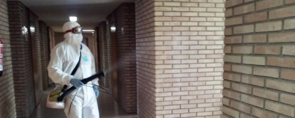 Nueva higienización de espacios en la Escuela Nacional de Policía a cargo de la Diputación