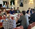 Foto de Reunión de seguimiento del Proyecto Life Duero con el presidente de la Diputación