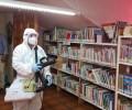 Foto de Medios de la Diputación se despliegan en Candeleda para higienizar espacios frente al brote de la COVID-19