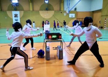 Sotillo acoge la entrega de medallas de Esgrima y un 3x3 de Baloncesto en los Juegos Escolares de la Diputación (2º Fotografía)