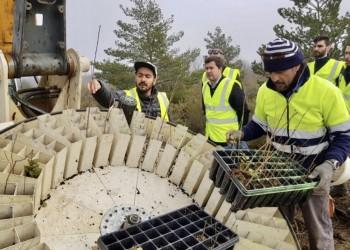 El diputado de Desarrollo Rural visita una empresa de reforestación que gestiona proyectos de absorción de carbono