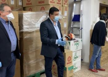 El presidente agradece a las empresas abulenses la donación de material sanitario de protección frente al COVID-19 (2º Fotografía)