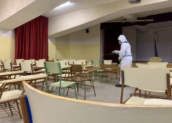 La Diputación comienza a higienizar todos los colegios e institutos de la provincia y la capital (2º Fotografía)