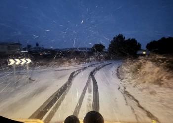 Todo el dispositivo provincial de vialidad invernal, activado ante la primera aparición de la nieve (3º Fotografía)