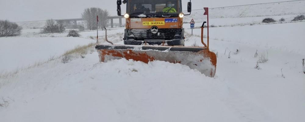 140.000 kilos de fundentes esparcidos este sábado contra la nevada de la borrasca Filomena